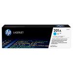 HP - toner - CF401A - n. 201a, cartridge ciano Laserjet, serie m252/m277