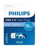 Philips - USB 2.0 - Vivid edition - 16 GB - blu