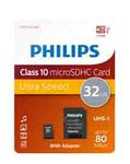 Philips - Micro SDHC Card - 32 GB - classe 10 - adattatore incluso