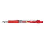 Penna a sfera a scatto con inchiostro gel - punta fine 0,7mm - rosso - Starline