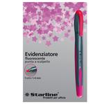 Evidenziatore a penna - punta scalpello - tratto da 1,0-4,0mm - fucsia - Starline
