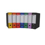Registratore Starbox - dorso 8 cm - protocollo 23x33 cm - arancio - Starline