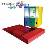 Scatola progetto KingPro - con portaetichetta - dorso 4 cm - rosso - Starline