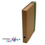 Cartella progetto con elastico - cartone FSC - dorso 4 cm - 25x35cm - avana - Starline