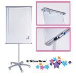 Lavagna portablocco mobile - 70x100 cm - bianco - Starline