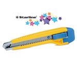 Cutter con bloccalama Premium - 18 mm - 2 lame incluse - Starline