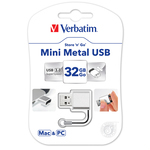 Verbatim - Usb 3.0 Store \N\Go mini - metallo - 49840 - per Mac & PC