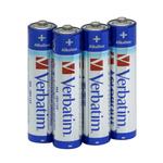 Verbatim - Scatola 4 Pile alkaline mini stilo AAA - 49920