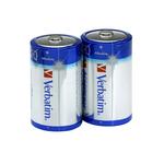 Verbatim - Scatola 2 Pile alkaline torcia D - 49923
