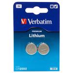 Verbatim - Blister 2 MicroPile a pastiglia CR2032 - litio - 49936 - 3V