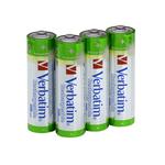 Scatola 4 batterie aa ricaricabili capacita\ 2.500 mah