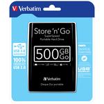 Verbatim - Hard disk portatile Store \N\Go Usb 3.0 - Nero - 53029 - 500GB