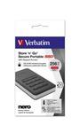 Verbatim - Memoria SSD portatile Store \N\Go Usb 3.1 - con tastierino numerico - 53402 - 256GB