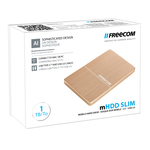 Verbatim - MHDD - slim mobile drive, 1tb usb 3.0, freecom gold
