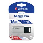 Verbatim - usb - secure pro drive 16gb pc & mac
