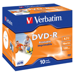 Verbatim - Scatola 10 DVD-R - Jewel Case - 43521 - 4,7GB