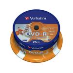 Verbatim - Scatola 25 DVD-R - stampabile - 43538 - 4,7GB