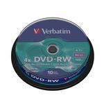 Verbatim - Scatola 10 DVD-RW - serigrafato - 43552 - 4,7GB