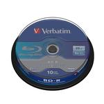 Verbatim - Scatola 10 DVD Blu Ray BD-R SL - Jewel Case - Bianco/Blu - 43742 - 25GB