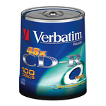 Verbatim - Scatola 100 CD-R DataLife Plus Extra Protection - 1x-52x - serigrafato - 43411 - 700MB
