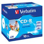 Verbatim - Scatola 10 CD-R DataLife Plus - Jewel Case - 1X-52X - stampabile inkjet - 43325 - 700MB