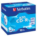 Verbatim - Scatola 10 CD-R DataLife Plus - Jewel Case - 1X-52X - serigrafata crystal - 43327 - 700MB