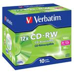 Verbatim - CD-RW - datalifeplus 8x/10x 700mb serigrafato - Conf. da10