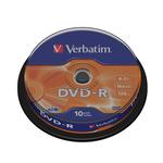 Verbatim - Scatola 10 DVD-R - serigrafato - 43523 - 4,7GB