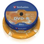 Verbatim - Scatola 25 DVD-R - serigrafato - 43522 - 4,7GB