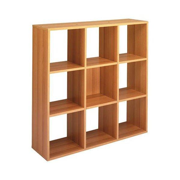 Libreria a giorno Maxicube Noce Artexport - 9 caselle - 104,1x29 ...