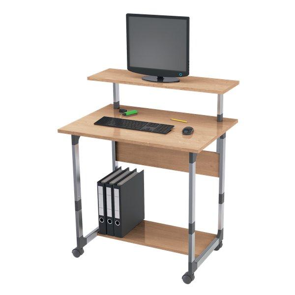 Carrello portacomputer Durable - argento metallizzato/faggio - 80x56 ...
