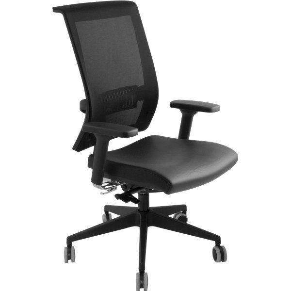 Sedia ergonomica Rumba Unisit - nero - JTJE/BRR/KN - Ufficio.com