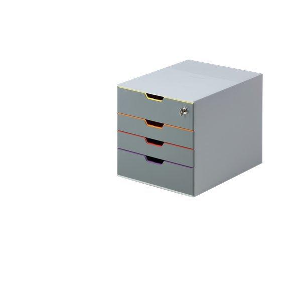 Serrature Per Cassettiere Ufficio.Cassettiere Da Scrivania Varicolor Durable Con Serratura 7606 27