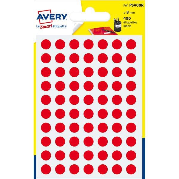 Etichette rotonde in bustina