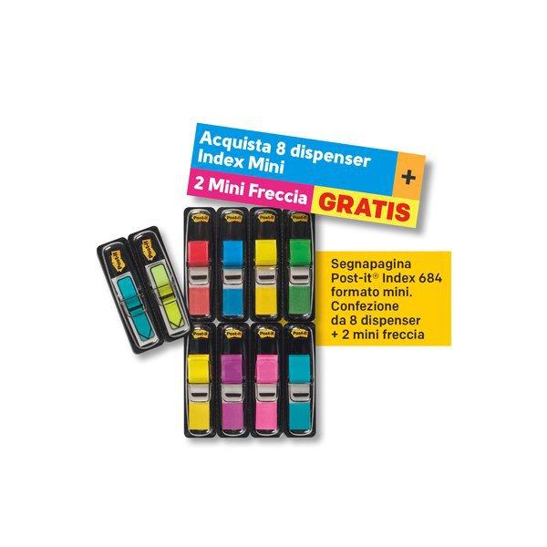 Value Pack Post-it Index 684 -8+2 Mini freccia