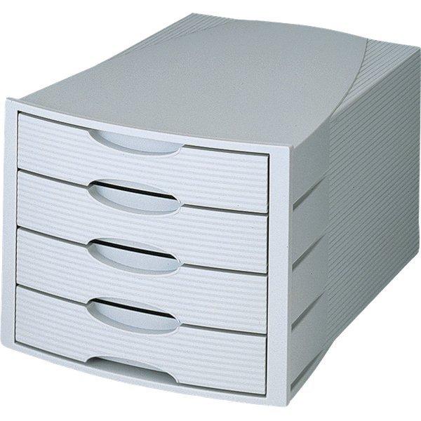 Cassettiera monitor han grigio grigio 4 cassetti - Cassettiere ufficio ...