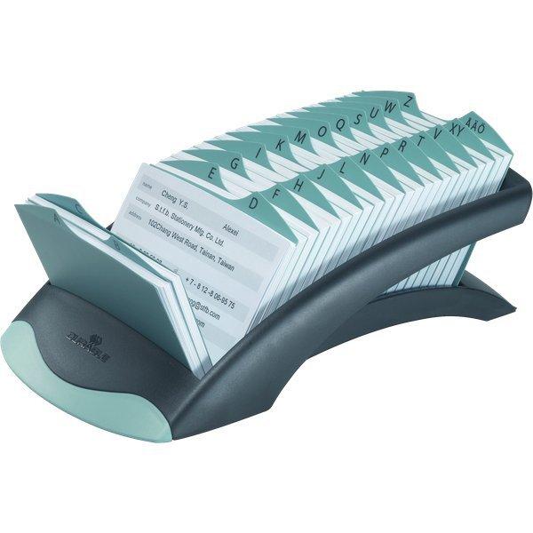Schedario alfabetico da tavolo telindex durable acciaio for Mobile schedario da ufficio