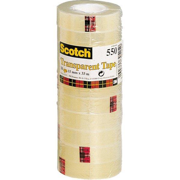 Nastro trasparente Alta Qualit Scotch 550 - 15 mm x 33 m - 550-1533 (conf.10) - Ufficio.com