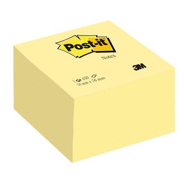 Cubi di foglietti di Post-it  colorati e giallo Canary