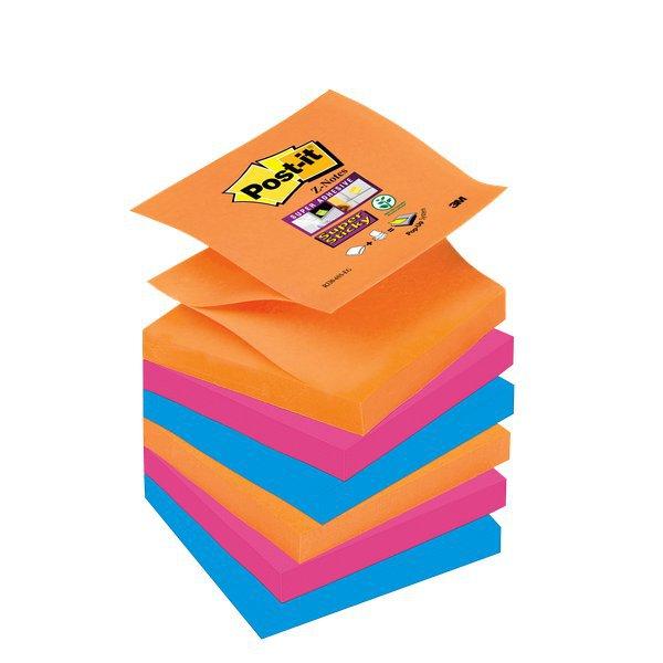 Ricariche di foglietti Post-it  Super Sticky Z-Notes colorate