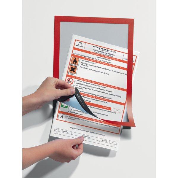 Cornici adesive magaframe durable a4 rosso 4872 03 - Cornici ufficio ...