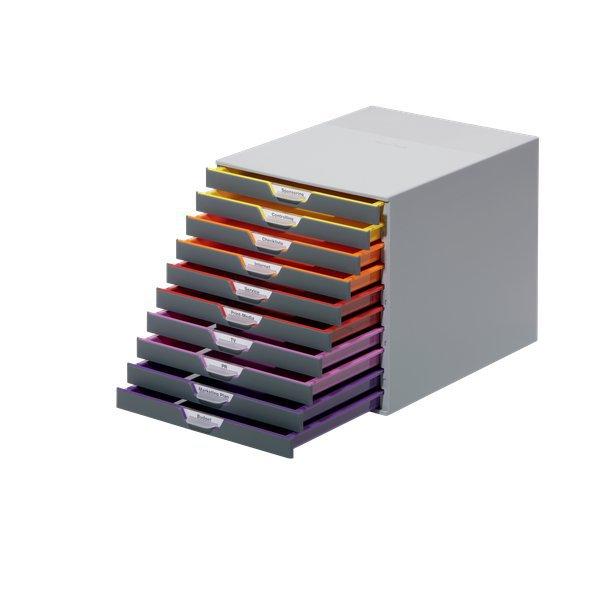 Cassettiere da scrivania varicolor durable grigio e for Cassettiere ufficio