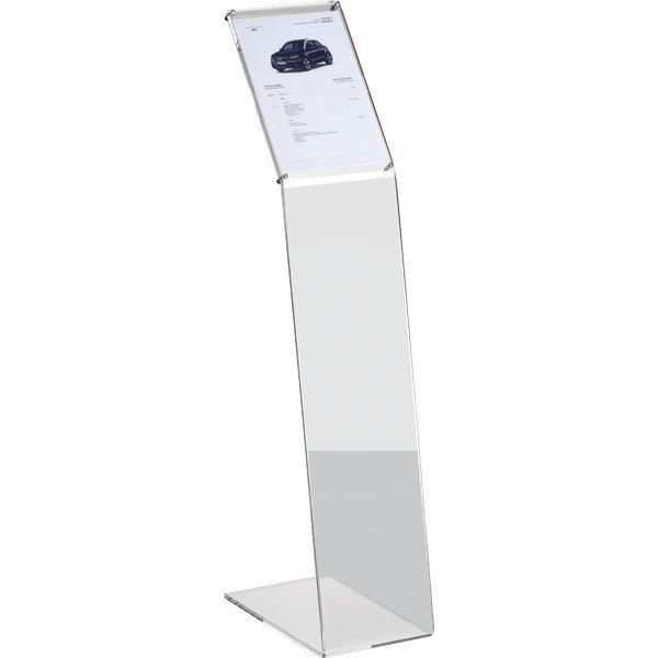Leggio da terra in acrilico tecnostyl a4 22x38x108 cm - Leggio da tavolo per studiare ...