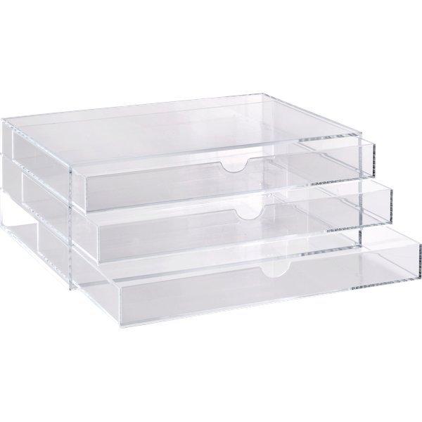 Cassettiera in acrilico a 3 cassetti tecnostyl trasparente acrd040 - Ikea scatole plastica trasparente ...