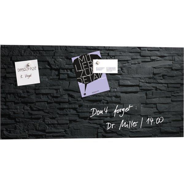 lavagne magnetiche in vetro artverum sigel 46x91 cm design ardesia gl149. Black Bedroom Furniture Sets. Home Design Ideas