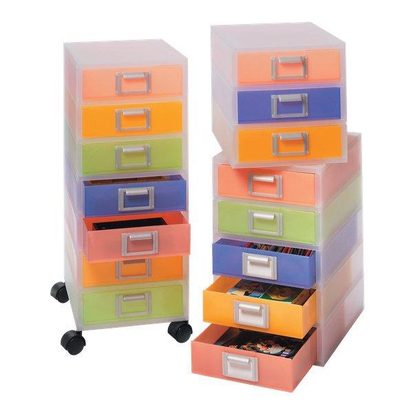 Cassettiera jolly niji multicolor semitrasparente 3 - Cassettiere ufficio ...