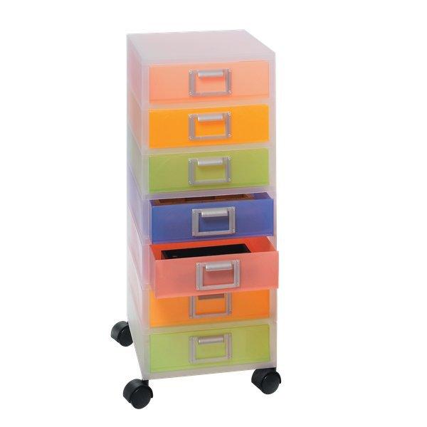 Cassettiera jolly niji con ruote multicolor - Cassettiere ufficio ...