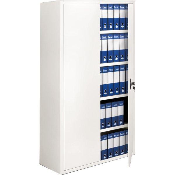 Armadi archivio a porte battenti tecnical 2 bianco 4 for Armadio ufficio bianco