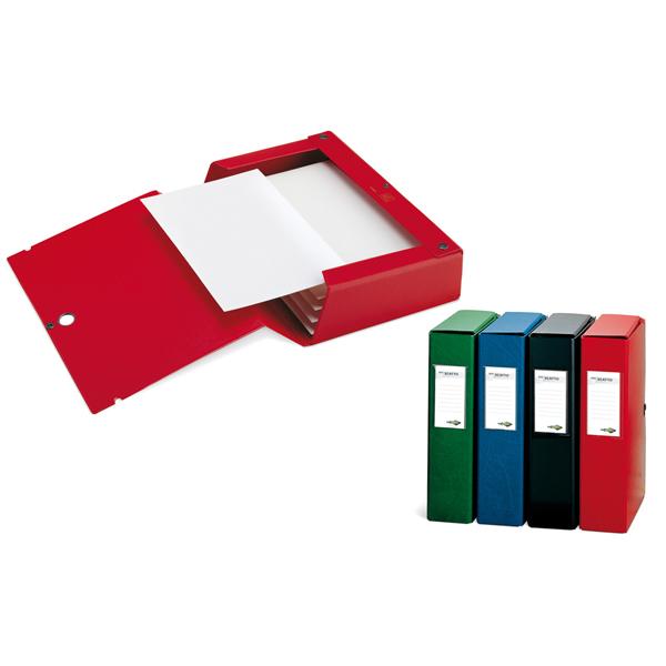 Scatola archivio Scatto - dorso 40 mm - 25x35 cm - blu - Sei Rota