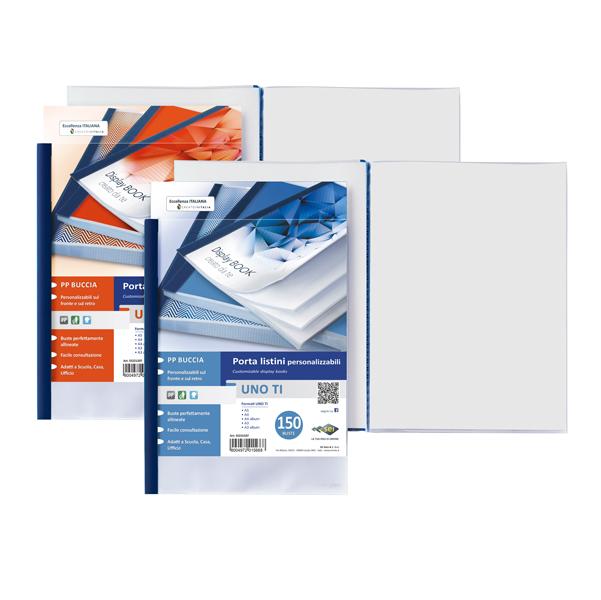 Portalistini personalizzabile Uno TI - 15x21 cm - 24 buste - blu - Sei Rota